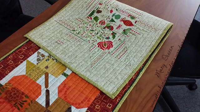 Reverse side of Autumn Jubilee tablerunner