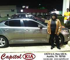 #HappyBirthday to Donna from Christian Lundell at Capitol Kia!