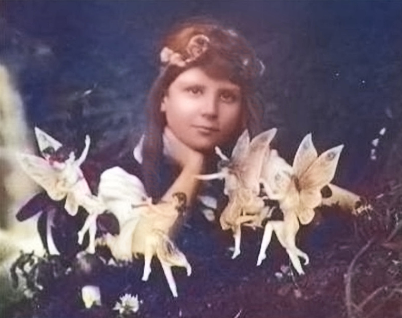 Cottingley Fairies by Elsie Wright, 1917
