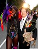 Dr. Takeshi Yamada and Seara (Coney Island Sea Rabbit) at the West Indian American Labor Day Parade in Brooklyn, New York on September 5, 2016.   20160905Sun. DSCN7884=p0025C2