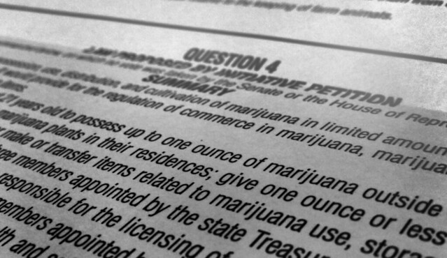 legalization of marijuana on Massachusetts ballot (2016)