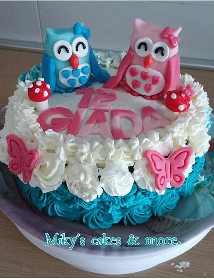 Owl Cake by Miky's cakes & more.