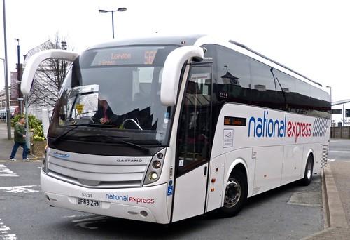 BF63 ZRN 'Stagecoach East Midlands' (National Express) No.53731 Volvo B9R / Caetano Levante on 'Dennis Basford's railsroadsrunways.blogspot.co.uk'