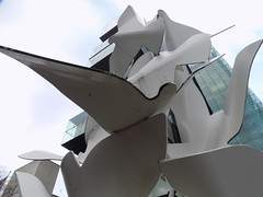 The Doves of Peace Outside the Manchester Civil Justice Centre