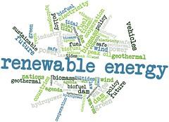 Word cloud for Renewable Energy