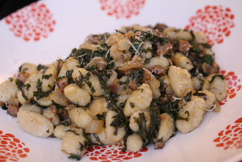 Gnocchi with Andouille, Kale, and Garlic