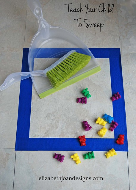 teach child to sweep