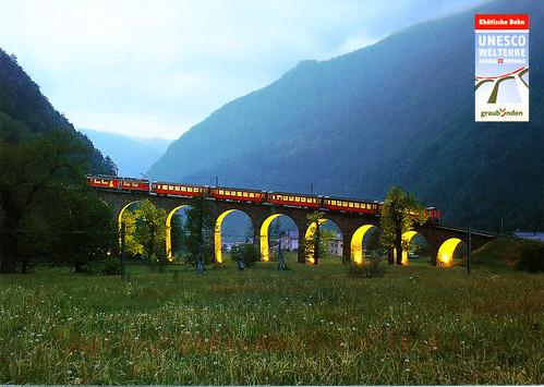 Der Kreisviaduct bei Brusio