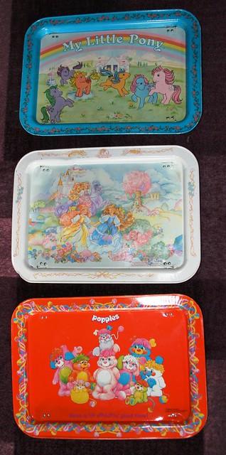 Popples, Lady Lovely Locks & My Little Pony dinner trays