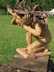 carving, art, chainsaw carving, wood, tree, sculpture, plant, produce, trunk,