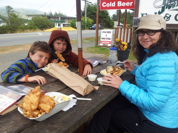 Good fish and chips at Jiggers in Ucluelet.