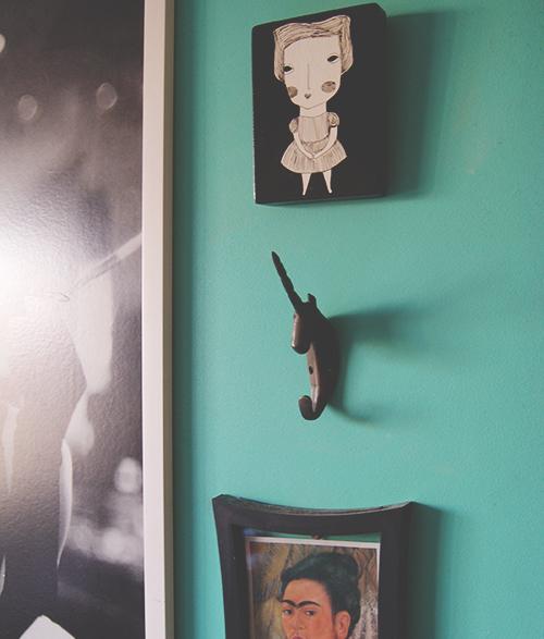 Unicórnio na parede