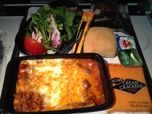 Beef and cheese enchiladas - United Airlines