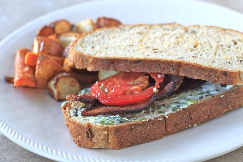 basil cream cheese blt