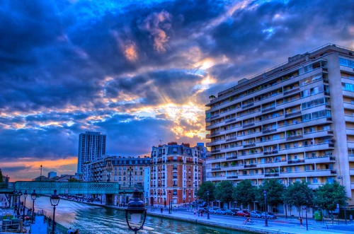Sunset On A Paris Canal