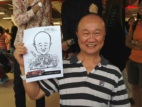 caricature live sketching for NTUC U Grand Prix Experience 2013 - 20