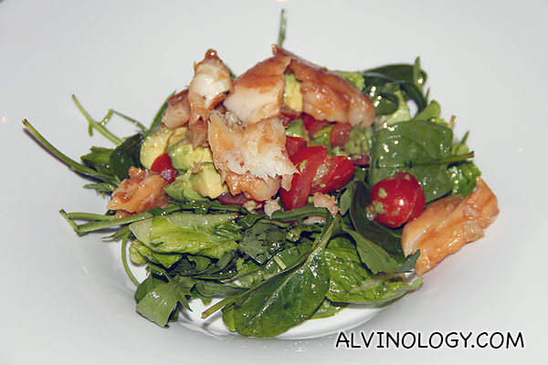 Watercress & Avocado Salad (S$20) - Watercress tossed through avocado, grapefruit, orange and kiwi fruit in a lemon vinaigrette