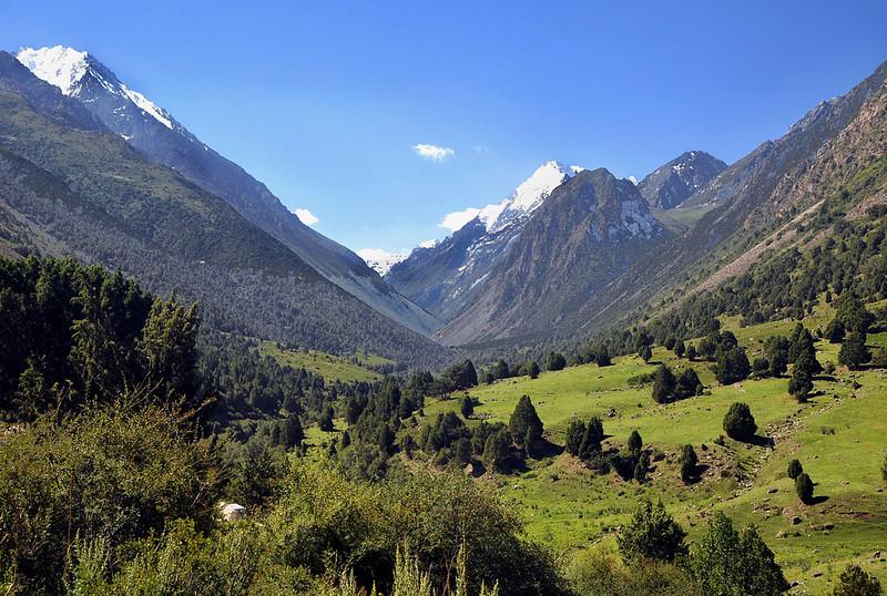 Tien Shan valley near Bishkek, Kyrgyzstan
