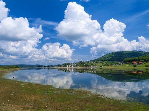 blue trees sky lake nature water clouds landscape reflex horizon croatia gree 2010 hrvatska valey sabljaki