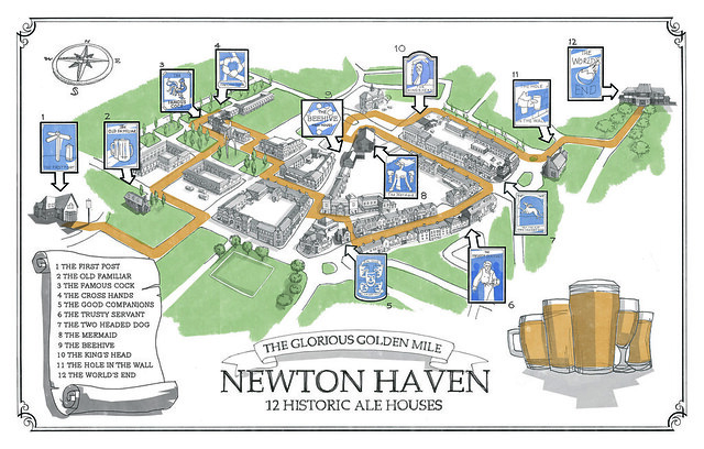 The World's End / Newton Haven Map