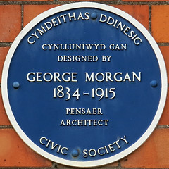 Photo of George Morgan blue plaque