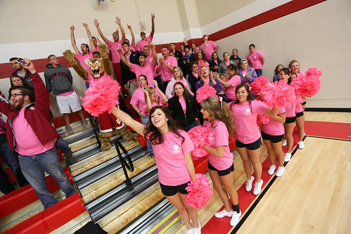 Women's Volleyball Block Out Breast Cancer match vs IU Northwest
