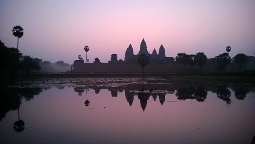 Angkor Wat at dawn,