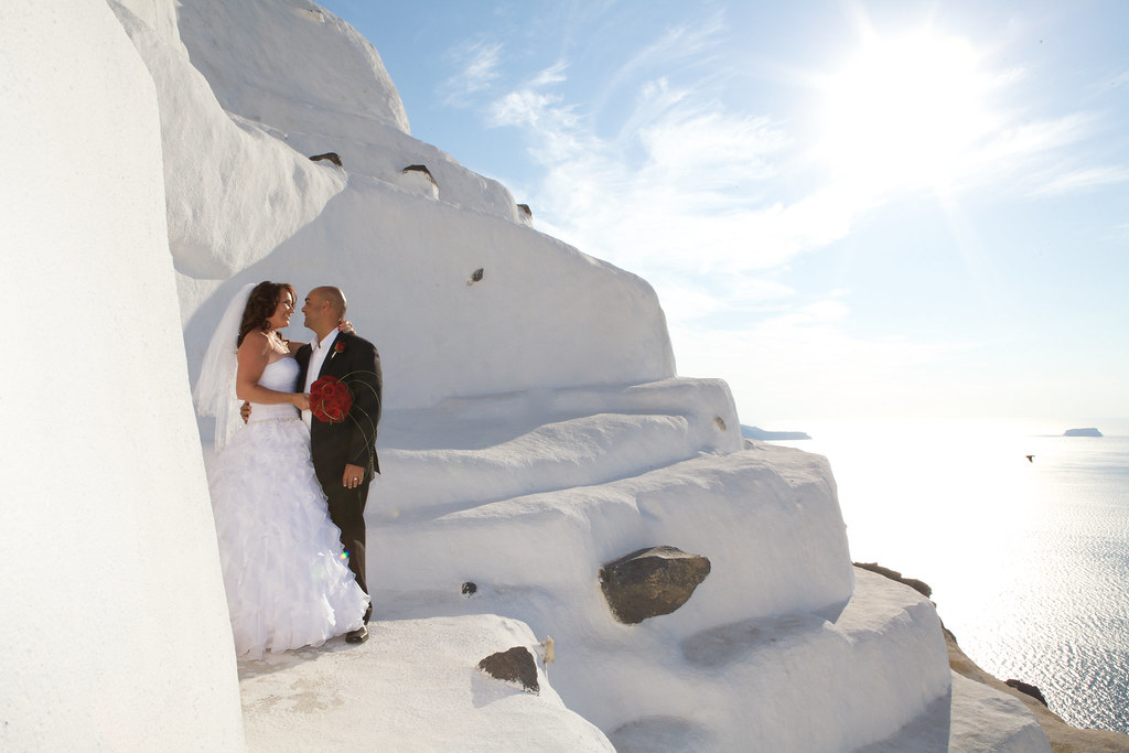 destination romantic wedding #santorini Greece