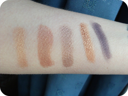 Top Five Autumn Eyeshadows Swatches