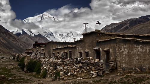 china houses clouds landscape ngc tibet everest mounteverest sagarmatha rongbuk chomolungma ringexcellence
