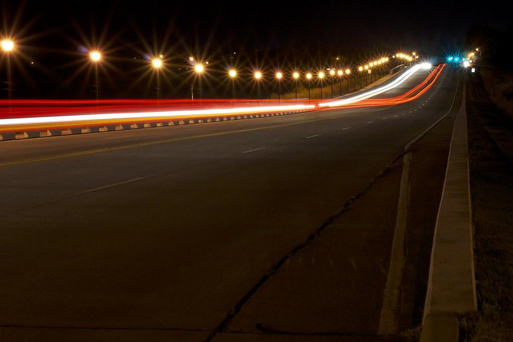 Night Lights on the Bridge