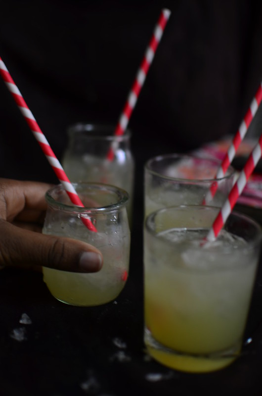 sugarcane juice on ice, ready for drinking