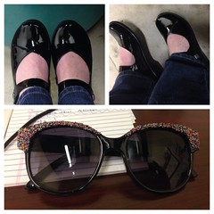 New shoes, old sunglasses.