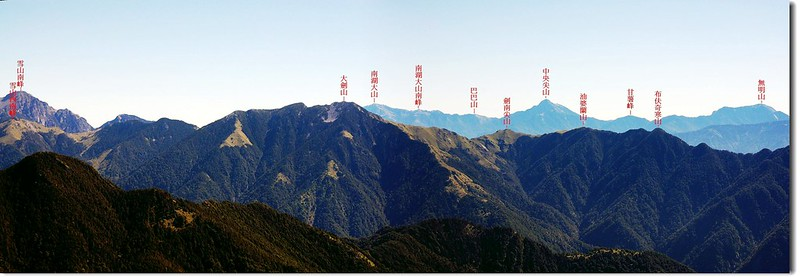 大劍、北一段(From 大雪山東朓) 1