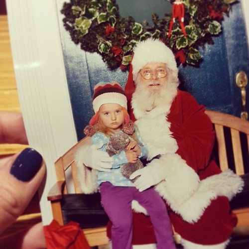 First photo with Santa. Nailed it.