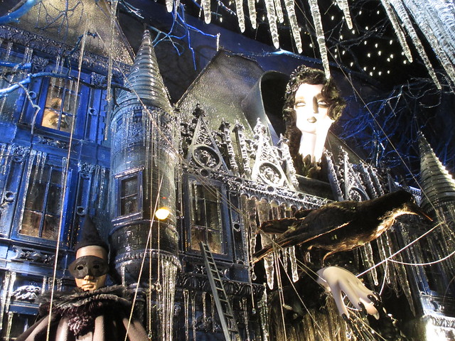 Goth Christmas Windows at Bergdorf Goodman 0770
