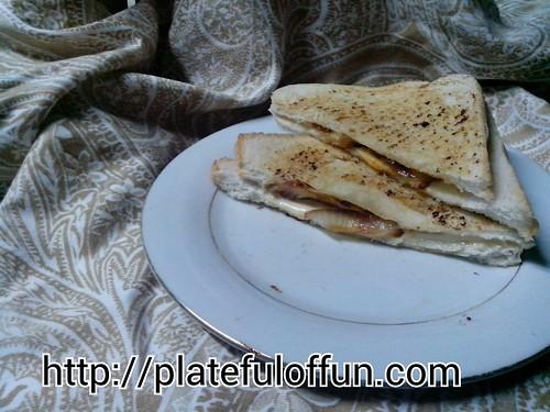 Cheesy Onion Sandwich