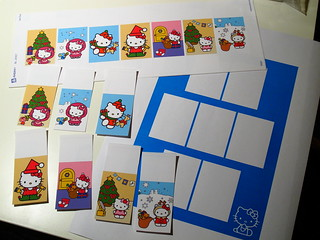 Home made Hello Kitty Christmas themed stickers