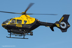 G-LASU - 2002 build Eurocopter EC135-T2, inbound to the Greater Manchester Police ASU at Barton