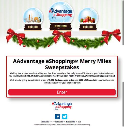 AAdvantage eShopping Merry Miles