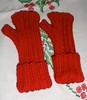 Zig Zag mitts palm side and back-of-hand side