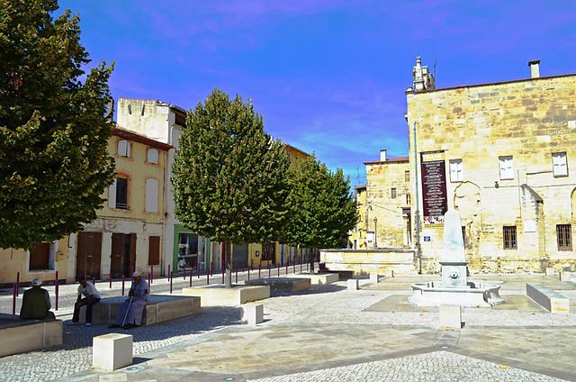 Town Square, Tarascon, Provence, France