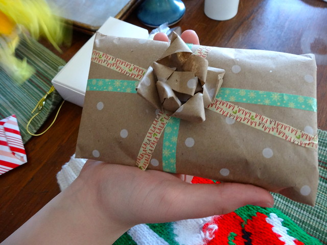 Olivia's mad wrapping skills