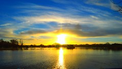 Sunrise on the Floodplains, Wimborne, Dorset