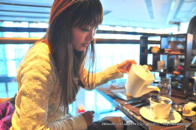 201314香港跨年。Chocolate Library Café 103 香港浪漫海景下午茶