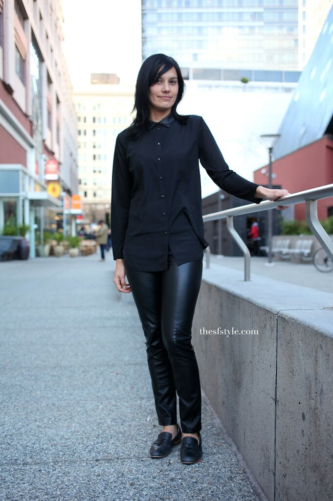 leather pants, leather collar, STREETFASHIONSTYLE, san francisco streetstyle fashion blog,
