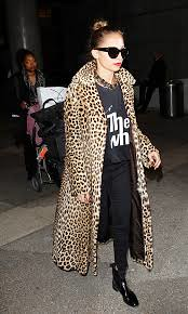 Nicole Richie Leopard Print Coat Celebrity Style Women's Fashion