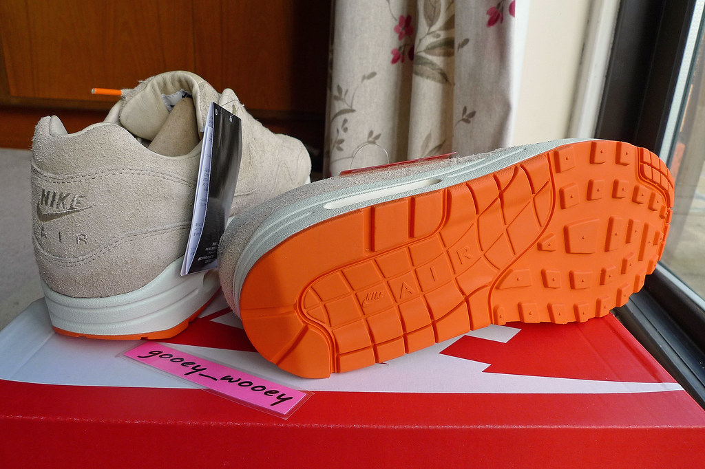 on sale 94de3 1ab5b ... Nike Air Max 1 Premium x Beams (Japan) - Grain  Orange Blaze (