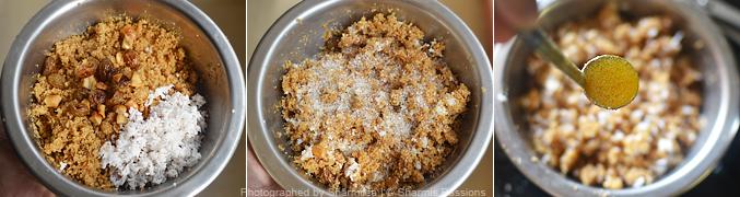 How to make bread puttu - Step3