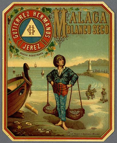 025- Etiquetas de bebidas. Niños y ángeles -1890 - 1920 - Biblioteca Digital Hispánica